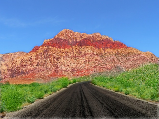 Red Rock Canyon, outside Las Vegas. Photograph by John Evans via freeimages.com