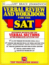 Verbal Review and Workbook for the SAT cover