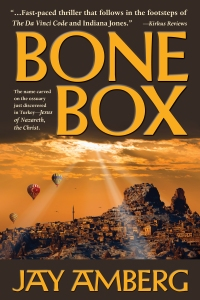 Bone Box by Jay Amberg. Cover photography by muratart and Vladyslav Danilin, Shutterstock.