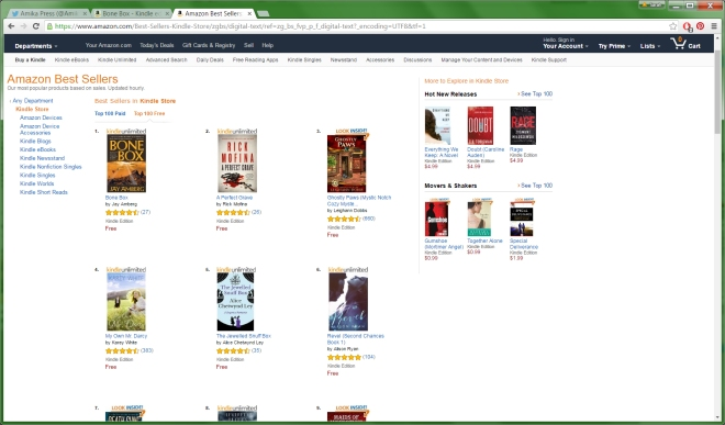 #1 in Kindle Store